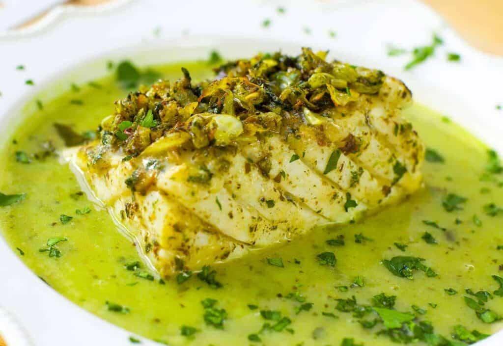 Cod in green sauce recipe