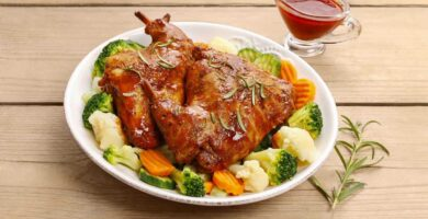 roasted rabbit
