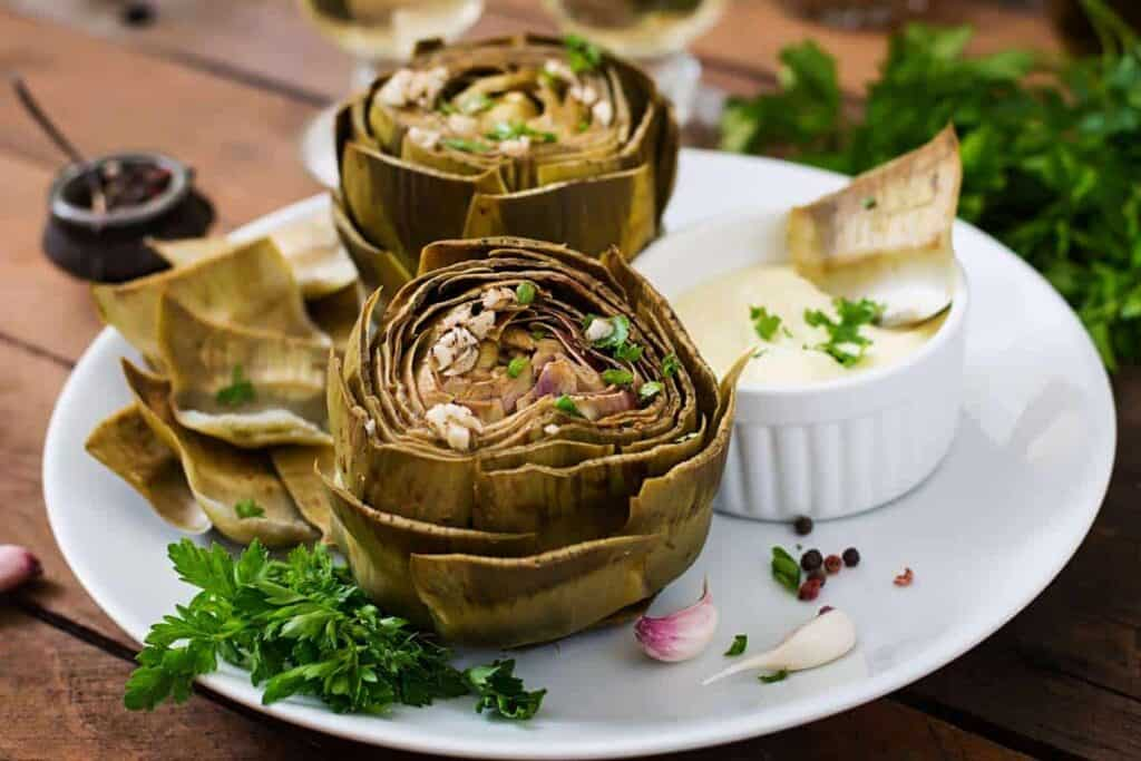 Roasted artichoke recipe