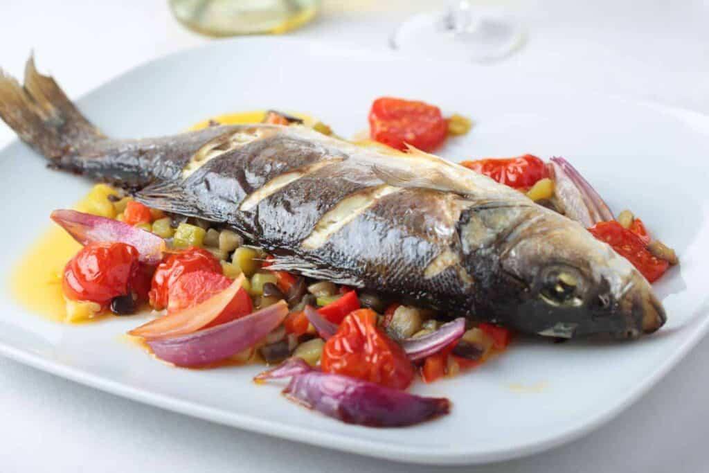 Baked sea bass recipe