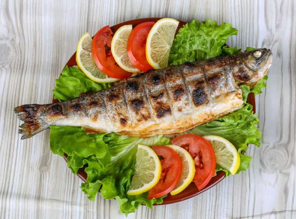 Baked trout recipe